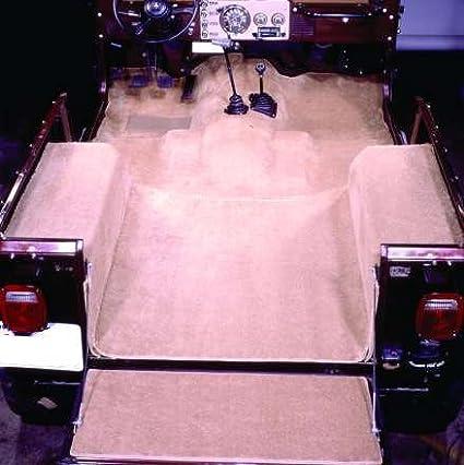 Amazon Com Acc Brand Carpet Compatible With 1976 To 1986 Jeep Cj 7 Passenger Area Only 801 Black Plush Cut Pile Automotive