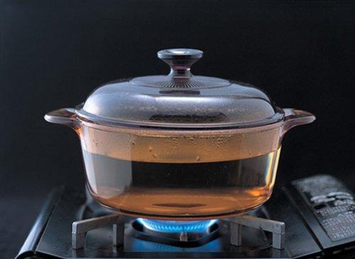 ビジョン製耐熱ガラス鍋