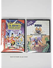 RNR 10PCS Sega Genesis / Master System Plastic Box Protector | Clear Plastic | Acid-Free PET 0.3mm |
