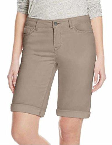 Buffalo David Bitton Womens Cuffed Bermuda Shorts (10, Brown')