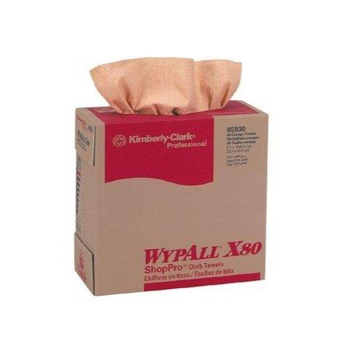 Kimberly-Clark Professional KIM05930 WYPALL X80 9.1 x 16.8-Inch Wipers 80 Sheets Red [並行輸入品] B07N86X6ND