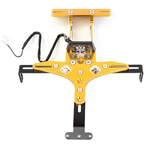 CONGCASE for Yamaha Scooter Universal Aluminum Alloy Adjustable Card Frame Yamaha License Plate Frame CNC Conversion Accessories (Color : Yellow)