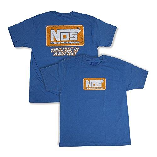 (NOS/Nitrous Oxide System 19071-MDNOS T-Shirt NOS Logo Blue Unisex Medium T-Shirt )