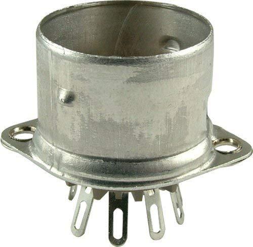 (Belton Vacuum Tube Socket (VT9-PT-C) 9 Pin / Miniature, Micalex, Top Chassis Mount, w/ Shield)