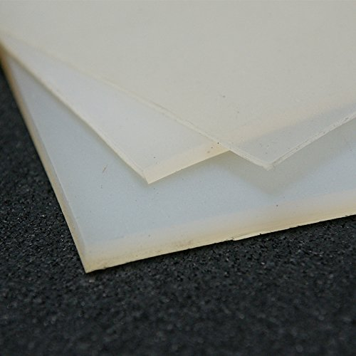 """Rubber-Cal Silicone - Commercial Grade Translucent - 60A - Translucent Silicone Sheets & Rolls - 1/8"""" Thick x 24"""" Width x 12"""" Length"""
