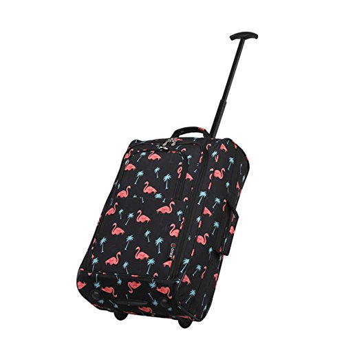 Approved Watermelon 5 Black Lightweight Bag On Black Trolley Flamingos Cities Hand 21