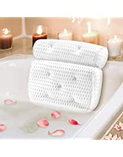 Mosuch Bath Pillow for Head Neck and Shoulder Support Luxury Spa Bathtub Pillow with 7 Non-Slip Suction Cups Large and Soft Bath Pillows Fits All Bathtub, Hot Tub, Jacuzzi and Home Spa