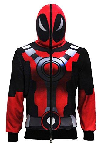 Hotwinds X Cosplay Men DP Costume Cool Men's Full Zip Face Mask Hoodie Adult -