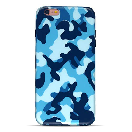 GOLINK iPhone 6/6S Case for Men, Camouflage Camo IMD Printing Slim-Fit Anti-Scratch Shock Proof Anti-Finger Print Flexible TPU Gel Case for iPhone 6/6S 4.7 inch Display - - Camo Blue Small