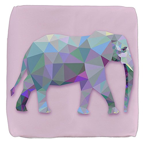 18 Inch 6-Sided Cube Ottoman Triangle Elephant by Royal Lion