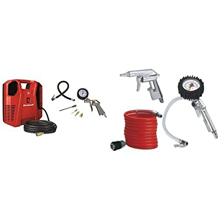 Einhell TH-AC 190 Kit - Compresor (1,1 kW, rendimiento de