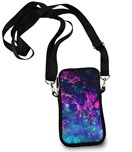 Cloud Body Cross - CXLETTI Small Crossbody Bag - Clouds Galaxy - Messenger Bag Phone Holder Wallet Case Cell Phone Purse Wallet for Women Girls|Adjustable Straps