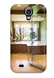 Premium [QZXPCfb12855ioTqk]earth-toned Bathroom With Glass-enclosed Shower And Tub By Window Case For Galaxy S4- Eco-friendly Packaging