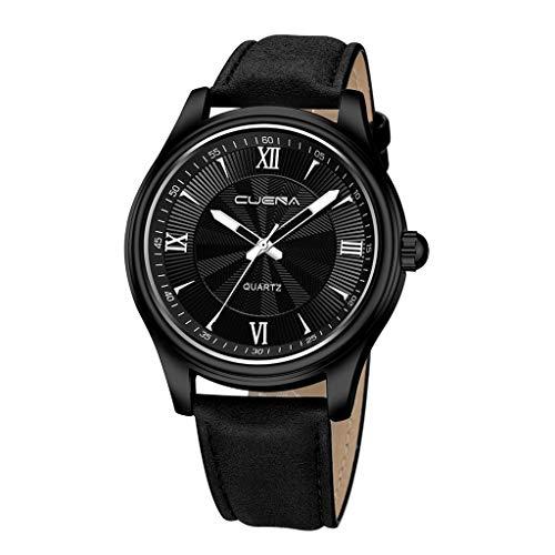 Calfskin Metallic Leather (LIEJIE Men's Watch 860 Belt Luxury Watches Quartz Watch Stainless Steel Dial Casual Bracele Watch Mens Watch Calfskin Leather Strap -Dress Casual Design (A))