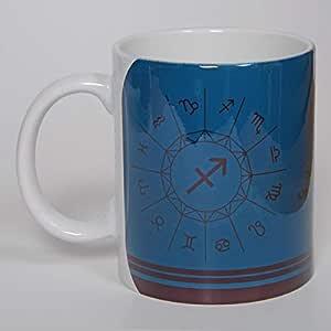 Projects311 Zodiac, Stars Constellation and Astrological Signs and Symbols, Horoscopes, SAGITARIUS, 11 oz. كوب قهوة من السيراميك بتصميم من أعلى إلى أسفل، بدون حدود،