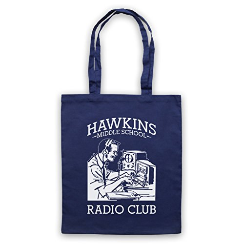 Stranger Things Hawkins Middle School Radio Club Bolso Azur Marino