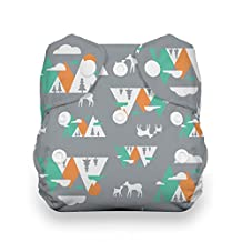 Thirsties Snap Natural Newborn All in One, Mountain Range Diapers