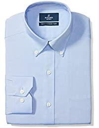 Men's Tailored Fit Button-Collar Solid Non-Iron Dress Shirt