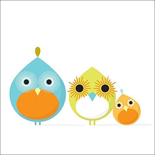 Mod Birds - Oopsy Daisy Mod Bird Canvas Wall Art, Trio, 14