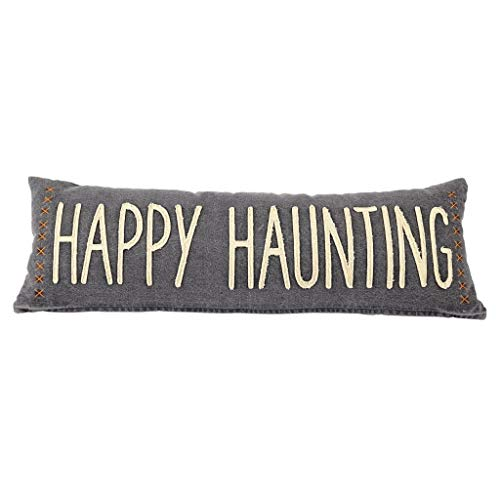 Mud Pie Halloween Washed Canvas Pillow (Haunting) by Mud Pie