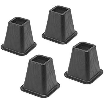 Whitmor Bed Risers, S/4, Black