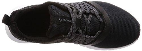 Reebok Negro Zapatillas para Black White Trail Rush 000 Print de Mujer Running Lite Ash Silver Grey tazarq