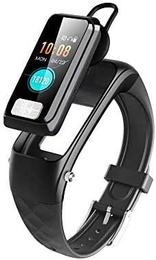 Yehyep Fitness Watch, Fitness Tracker Activity Waterproof with Clever Combination of Bracelet and Bluetooth Headset/Blood Oxygen/Heart Rate Monitoring/ECG Analysis for Android iOS