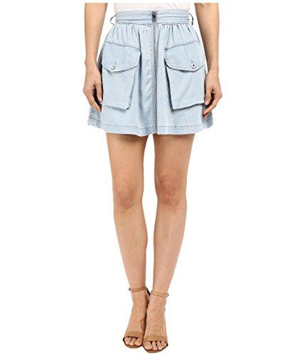 Denim Flap Pocket Skirt - Diesel Women's De-Boden-B Skirt Sky Blue Skirt