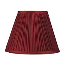 Urbanest Mushroom Pleated Softback Lamp Shade, Faux Silk, 9-inch, Burgundy, Spider