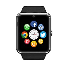 Antimi Sweatproof Smart Watch Phone for Android HTC Sony Samsung LG Google Pixel /Pixel and iPhone 5 5S 6 6 Plus 7 Smartphones Black