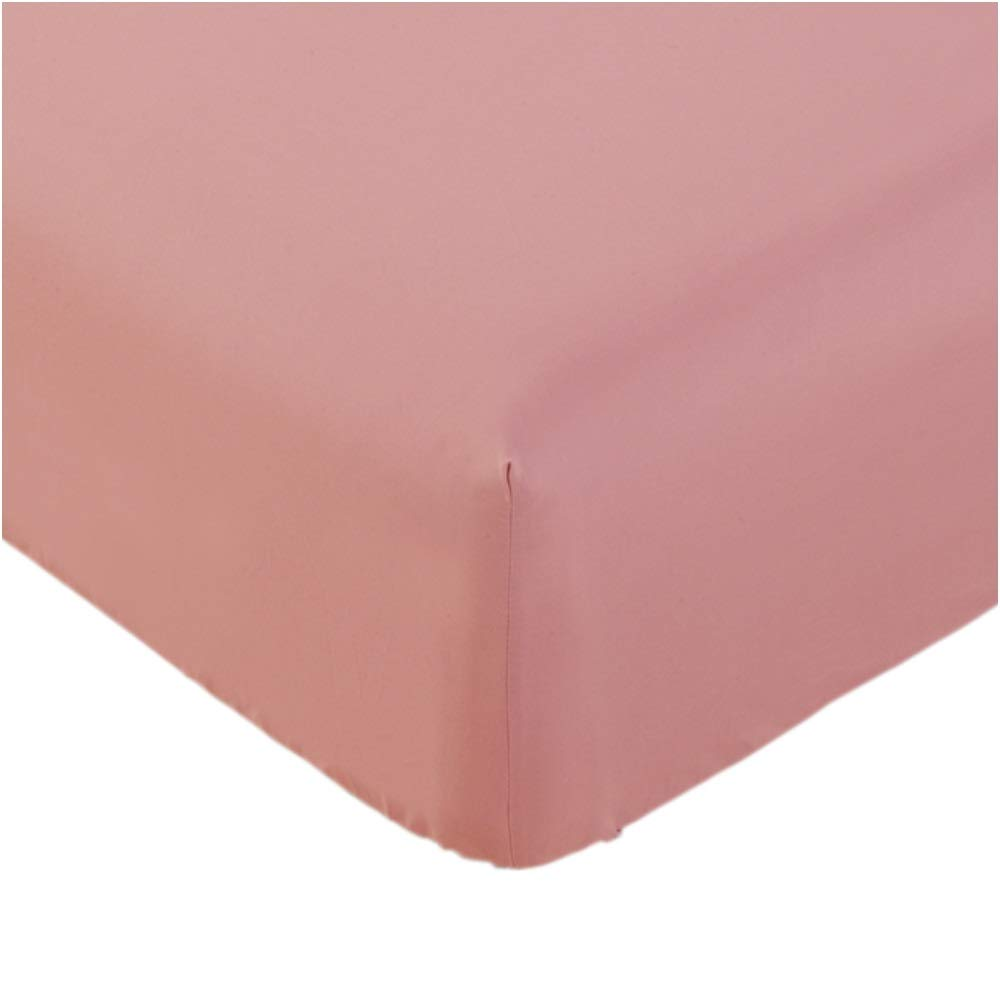 Mellanni Fitted Sheet Queen Coral - Brushed Microfiber 1800 Bedding - Wrinkle, Fade, Stain Resistant - Hypoallergenic - 1 Fitted Sheet Only (Queen, Coral)