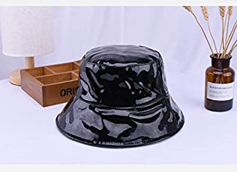 ACVIP Womens Patent Leather Floppy Sun Bucket Hat 8AC10Y05K 3ecab791b1f