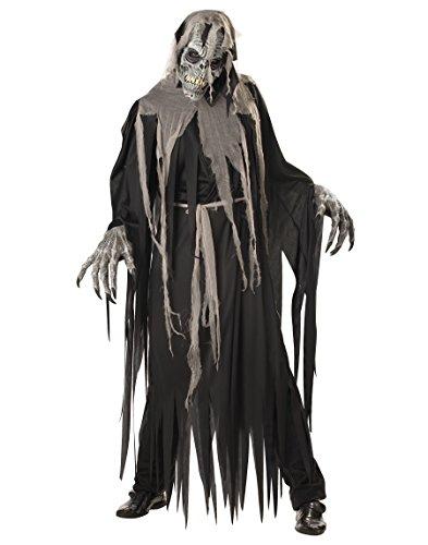 Scary Men Halloween Costumes (California Costumes Men's Crypt Crawler Costume, Black/Grey,Large)