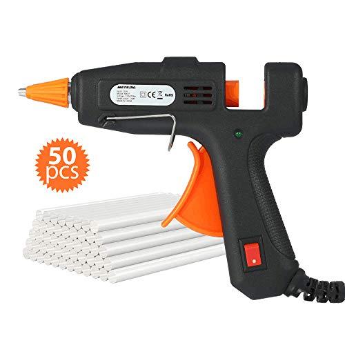 Mini Trigger Glue Gun - Hot Glue Gun, Meterk Mini Hot Melt Glue Gun with 50pcs Glue Sticks 20W Glue Gun Kit for Small Craft Projects Home Quick Repairs Artistic Creation