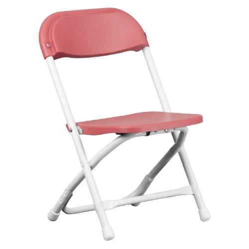Kids Burgundy Plastic Folding Chair ()