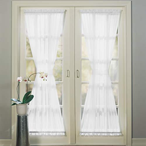 No. 918 Emily Sheer Voile Single Curtain Door Panel, 59