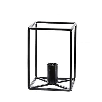 kerzenständer metall schwarz