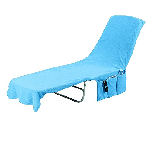 KOVOT 2-in-1 Lounge Chair Towel Cover & Carrier (Blue) - Measures 84