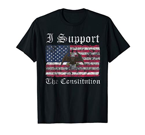 Support the Constitution American Flag Conservative T-Shirt