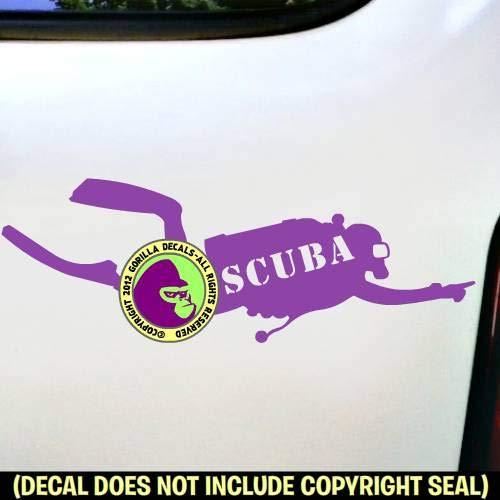 SCUBA Inside Diver Diving Vinyl Decal Sticker A