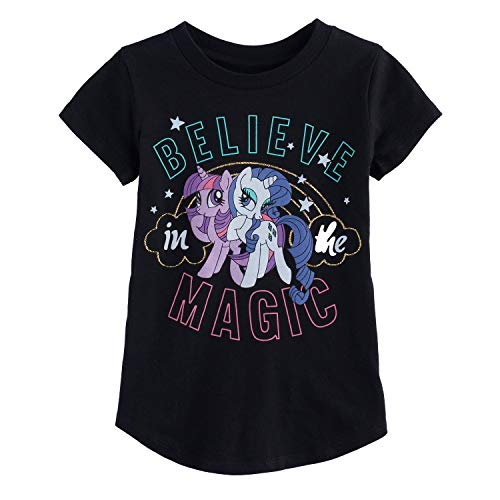 (Jumping Beans Girls 4-10 My Little Pony Magic Rarity & Twilight Sparkle Graphic Tee 4 Charcoal Heather)