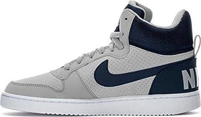 Nike Men Grey Court Borough High-Top Sneakers (8 UK/India)