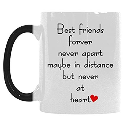 Interestprint Best Friends Long Distance Morphing Mug Heat Sensitive