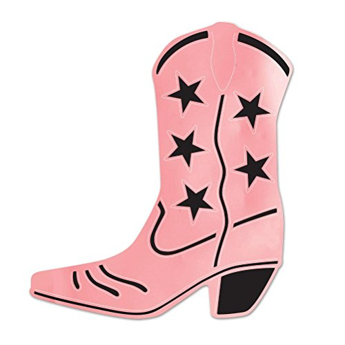 (Beistle 55472-P Foil Cowboy Boot Silhouette, 16-Inch,)