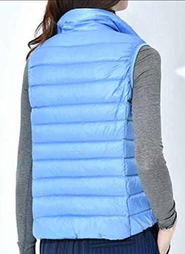 Collar Quilted 4 Gilet Zip Women's TTYLLMAO Stand Vest Jacket Lightweight BqFf4wf