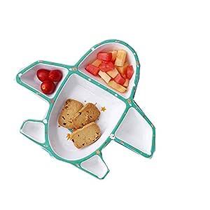 Plato Infantil Patrón de avión creativo Placa de sopa de frutas ...