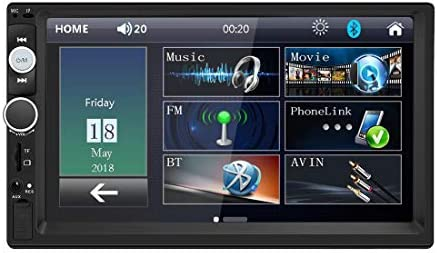 Double Din Car Stereo in Dash, FM Receiver with Remote, Car MP5 Media Player with 7inch Digital Resistive Touch Screen,Bluetooth Car Audio Mirror Link Monitor for Android iOS