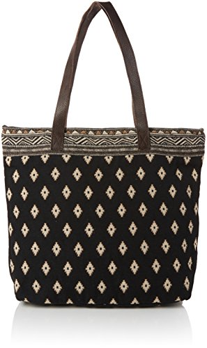 Fat Face Women's Tia Woven Shopper Lingerie Bag, Black, One Size