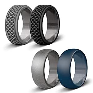 Amazon.com : Silicone Wedding Ring for Men, Affordable