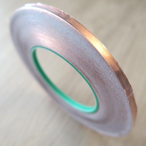 "OptOffice Copper Foil Tape, 1/4"" x 50m Double Conductive Adhesive Perfect for Electrical Repairs, EMI Shielding & Pest Repelling, Also Ideal For Garden, Office And Home Craft Projects"